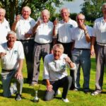 Bishop Monkton Bowling Club in there team clothing