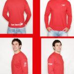 Red Long Sleeve Shirt Mock Up